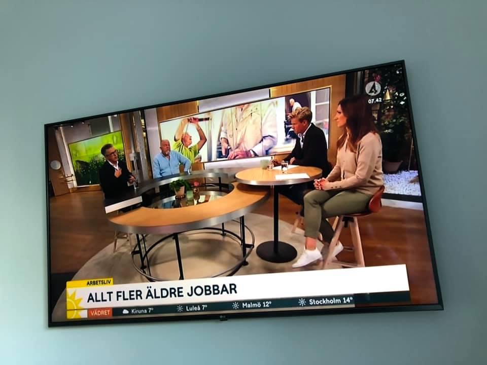 Nyhetsmorgon i TV4 om trenden att kombinera jobb och pension